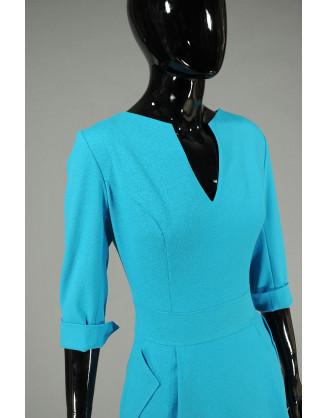 Платье Stella Di Mare 804-14-голубой